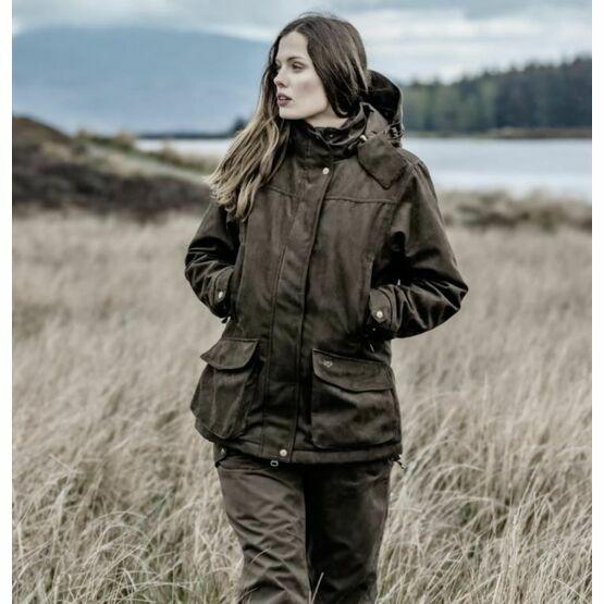 Hoggs Of Fife Ladies Hunting Jacket - Brown