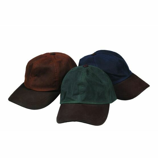 Hoggs Of Fife Waxed Navy Baseball Cap