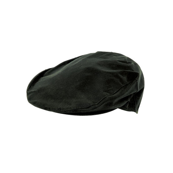 Hoggs Of Fife Waxed Cap - Dark Olive