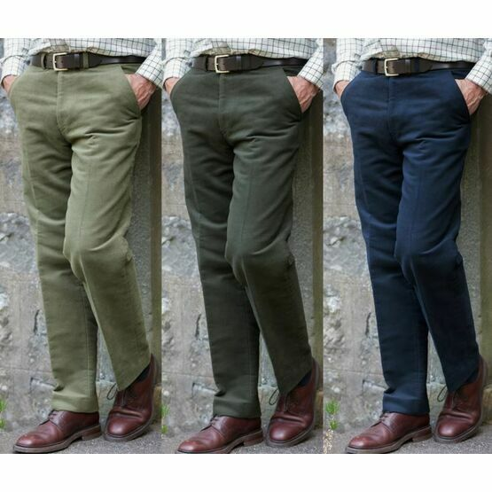 Hoggs of Fife Men's Monarch Moleskin Trousers