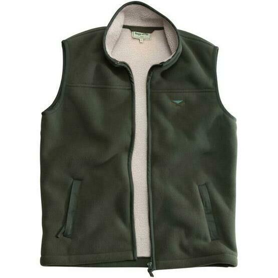 Hoggs of Fife Mustang Heavy Khaki Waistcoat  Fleece