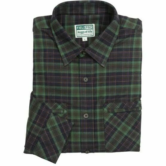 Hoggs Arran Luxury Hunting Shirt in Navy/Green