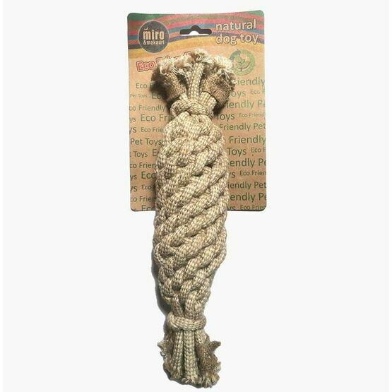 Jute Rope Crinkler Bottle Toy