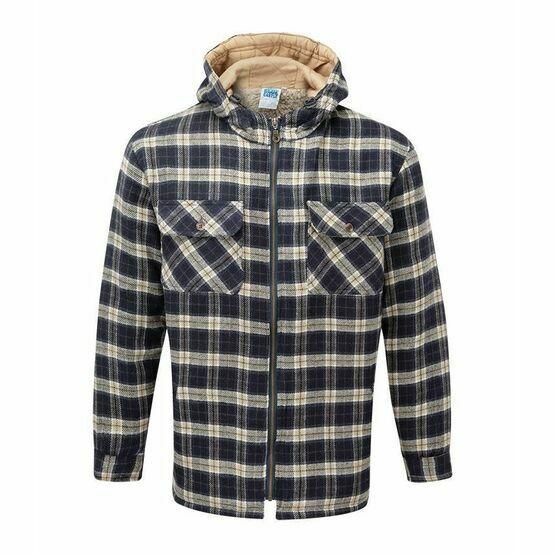 Castle Penarth Fleece Lined Hoodie Shirt - Navy