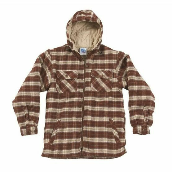Castle Penarth Red Hooded Fleece Lined Shirt