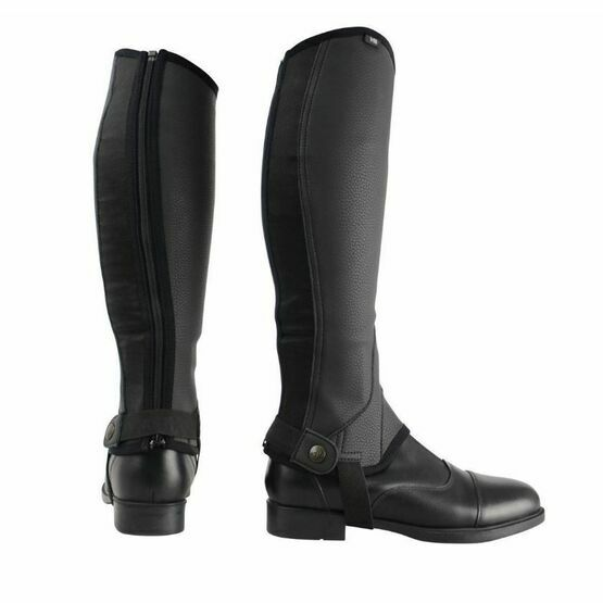 Hyland Black Synthetic Combi Leather Chaps