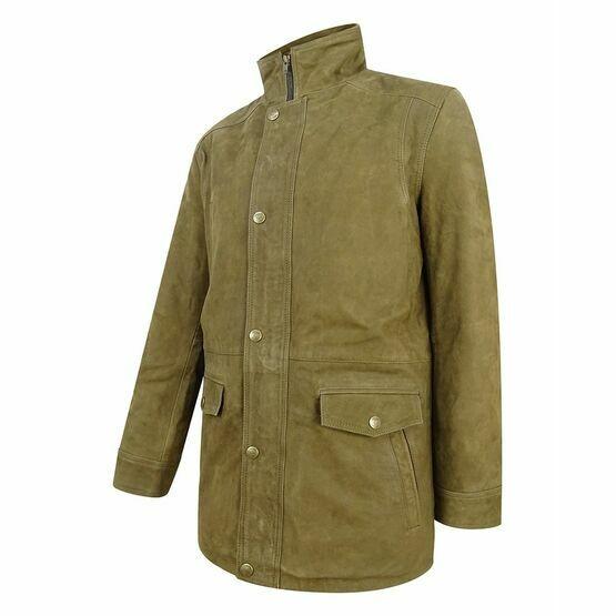 Hoggs of Fife Dunkeld Leather Field Jacket - Khaki