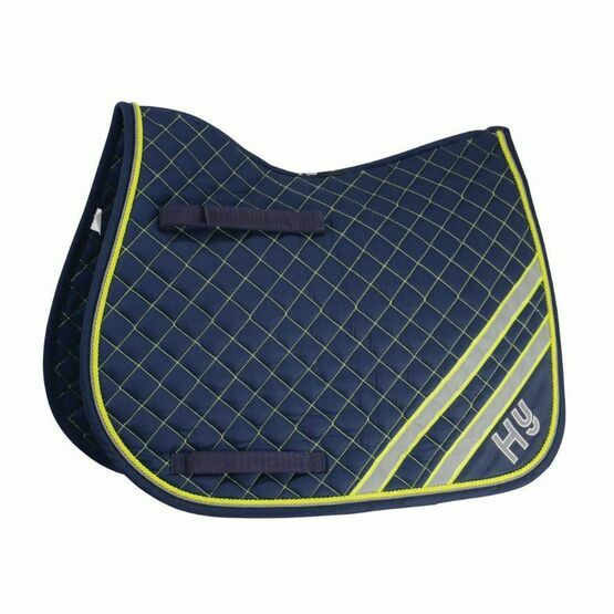 HyWither Pony Reflector Saddle Pad - Yellow/Silver