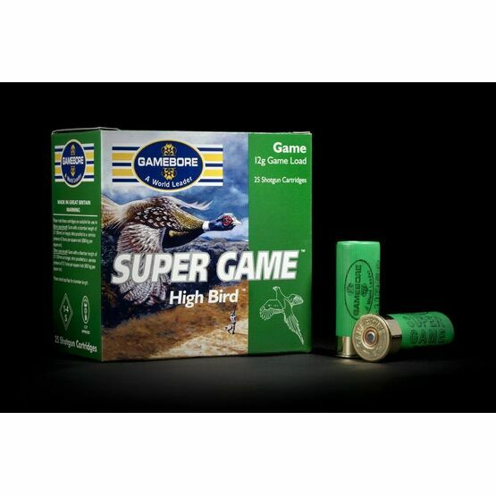 Gamebore Super Game Hi Bird 6/32 Fibre Shotgun Cartridges 12g