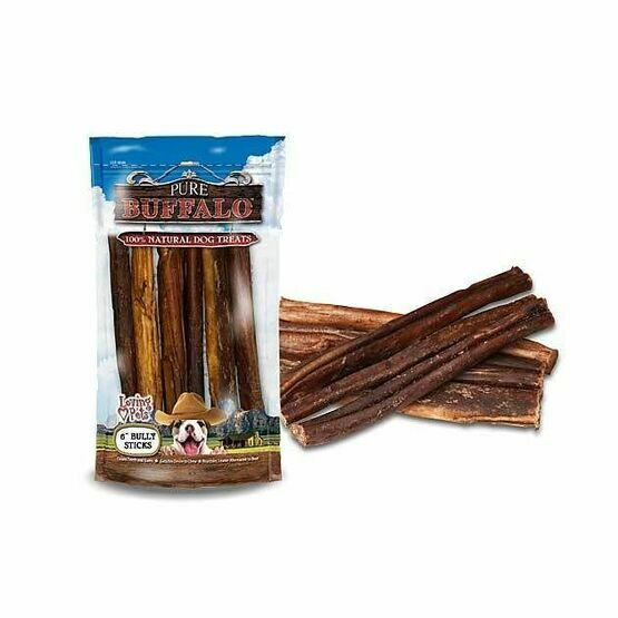 Pure Buffalo Dog Stick Treats From Loving Pets - 6 Pack