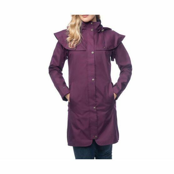 Outrider 3/4 Length Waterproof Raincoat Target Dry 968 - Plum Purple
