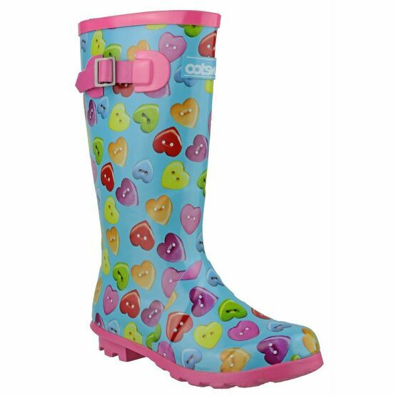 Cotswold Childrens Button Heart Wellington Boots