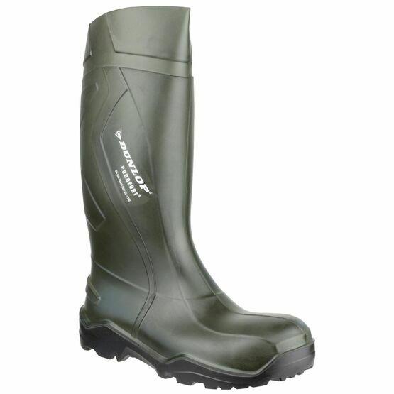 Dunlop Purofort+ Full Safety Green Wellington Boots