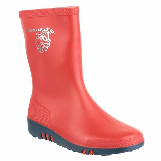 Dunlop Mini Kids Wellington Boots (Red/Blue)