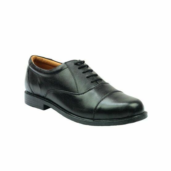 Amblers London Leather Oxford Shoes (Black)