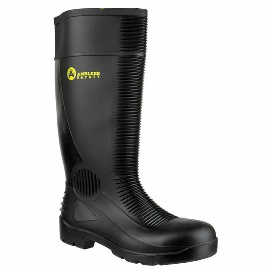Amblers FS100 Construction Safety Wellington Boots (Black)
