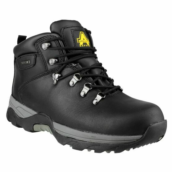 Amblers Safety FS17 Waterproof Lace Up Hiker Boots (Black)