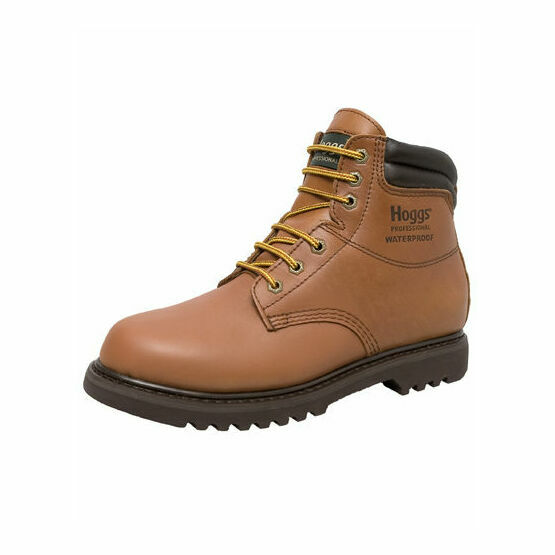 Hoggs of Fife Atlas Waterproof Leather Work Boots - Tan