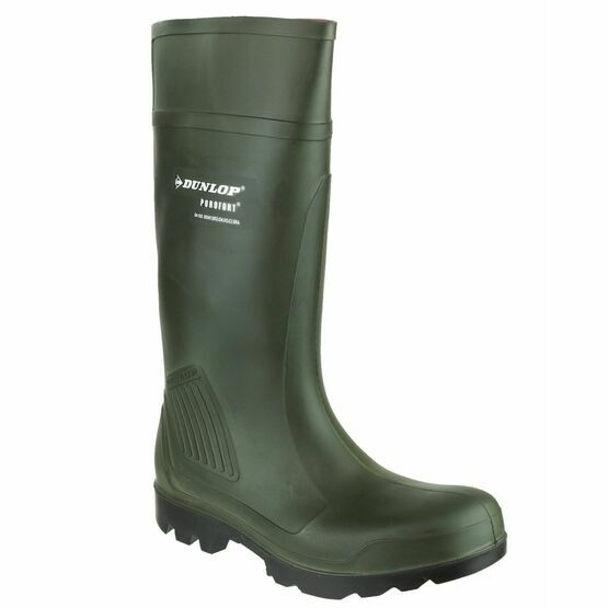 Dunlop Purofort Professional Full Safety Wellington Boots (Green)