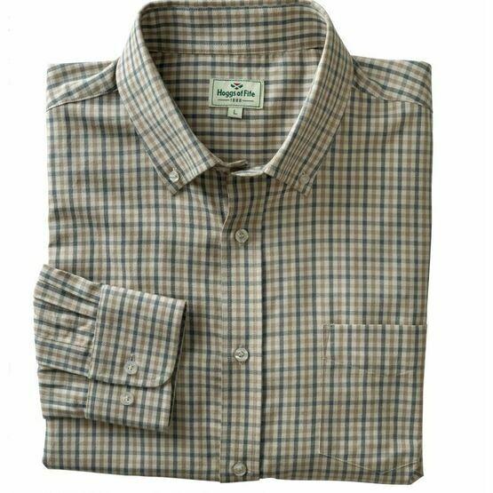 Hoggs Upton Check Shirt - Light Blue/Beige