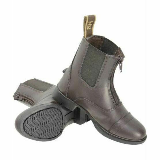 HyLAND York Synthetic Zip Jodhpur Boots - Brown