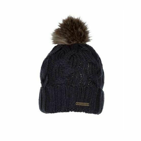 Baleno Katrien Pom Pom Beanie Hat - Navy Blue only £16.25 8e45738aec09