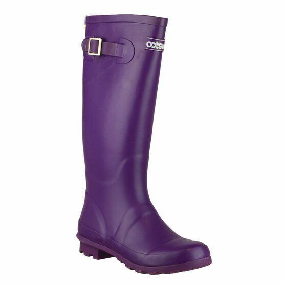 Cotswold Highgrove Buckle Up Wellington Boots (Purple)