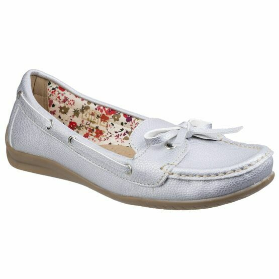 Alicante Boat Shoe in Silver
