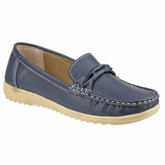 Paros Loafer Shoe in Navy