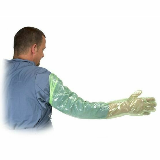 Krutex Arm Length Gloves For Examination - 100 Pack