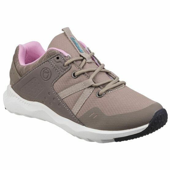 Cotswold Luckington Casual Shoe in Taupe/Pink/White