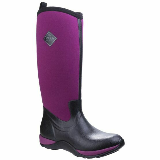 Muck Boots Arctic Adventure Women's Wellington Boots in Black/Maroon