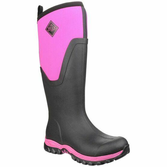 Muck Boots MB Arctic Sport II Tall Wellington Boots in Black/Pink