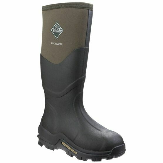 Muck Boots Muckmaster Hi Patterned Wellington Boots in Moss