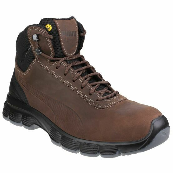 Puma Safety Condor Mid Lace Up Safety Boots in Brown