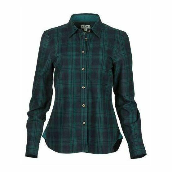 Hoggs Of Fife Beth Women's Navy Check Shirt