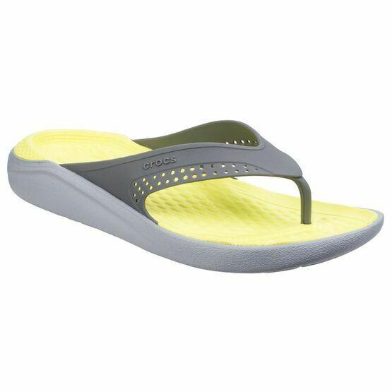 Crocs LiteRide Flipflop in Slate Grey/Light Grey