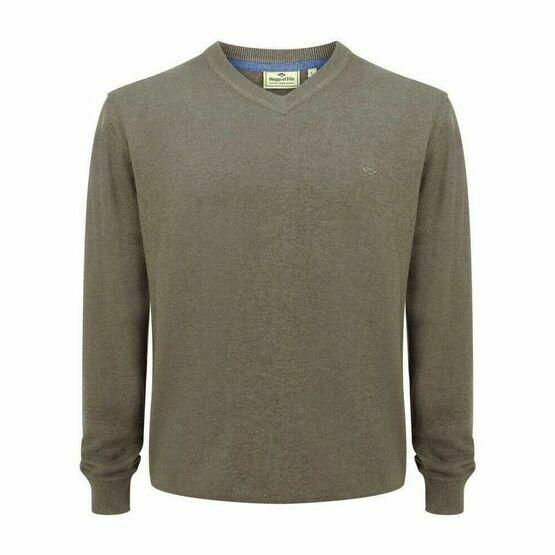 Hoggs Stirling V Neck Pullover - Beige