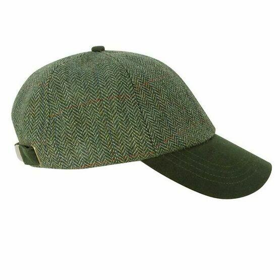 Hoggs Helmsdale Tweed Baseball Cap - Green