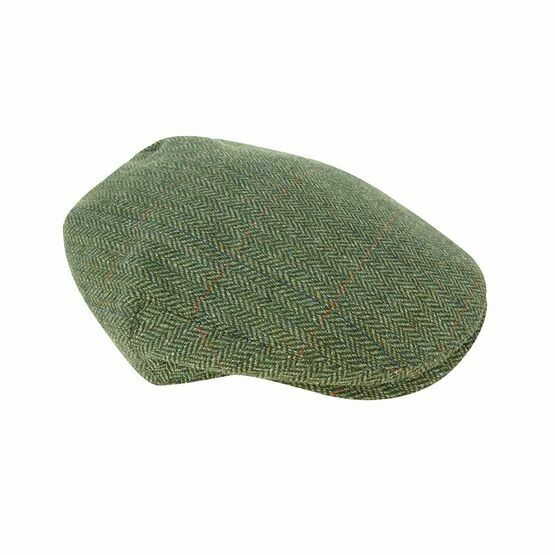 Helmsdale Waterproof Tweed Flat Cap - Green