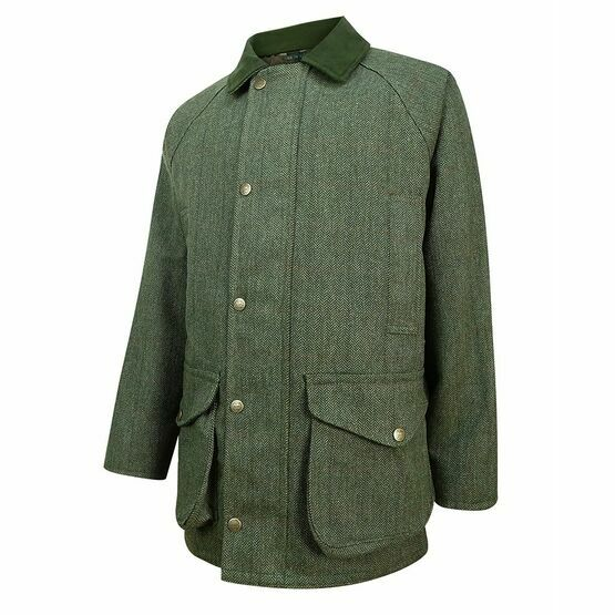 Helmsdale Waterproof Tweed Shooting Jacket - Green