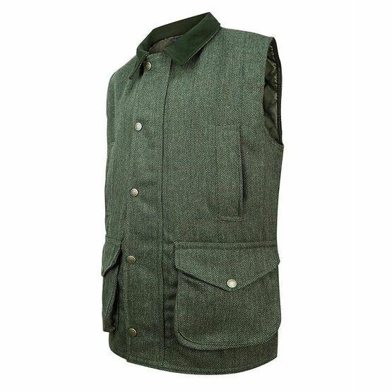 Hoggs Helmsdale Tweed Waistcoat - Green