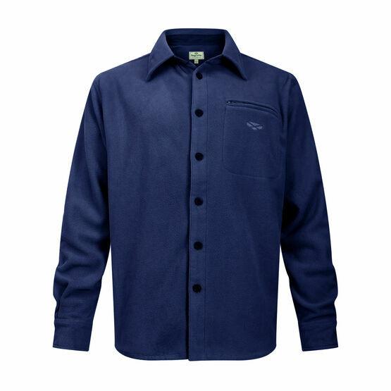 Hoggs Highlander Micro Fleece Shirt - Navy