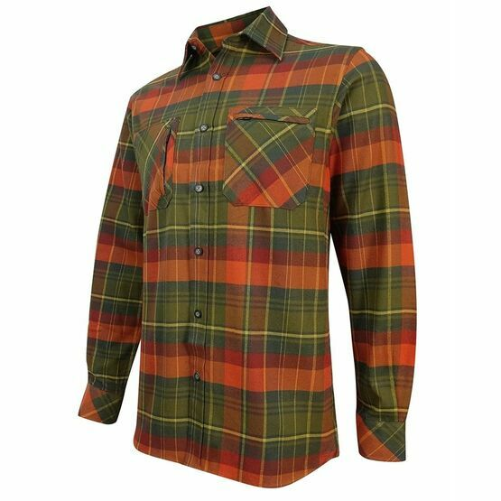 Hoggs Autumn Luxury Hunting Shirt - Green/Orange