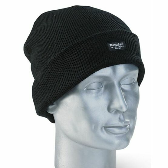 Hoggs Of Fife Thinsulate Beanie Hat - Black