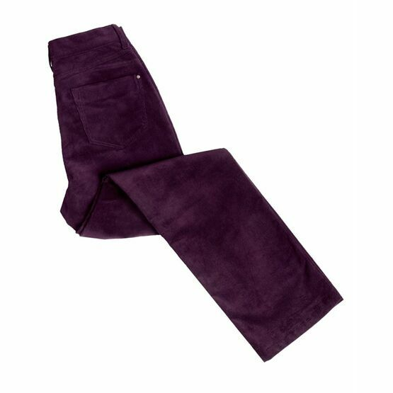 Hoggs Ladies Stretch Cord Jeans - Mulberry