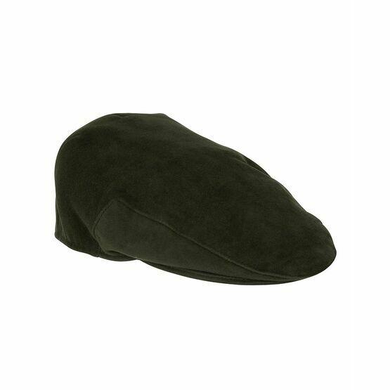 Hoggs of Fife Waterproof Moleskin Cap - Dark Olive