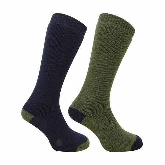 Hoggs of Fife 1903 Country Long Socks in Dark Green/Dark Navy (Twin Pack)