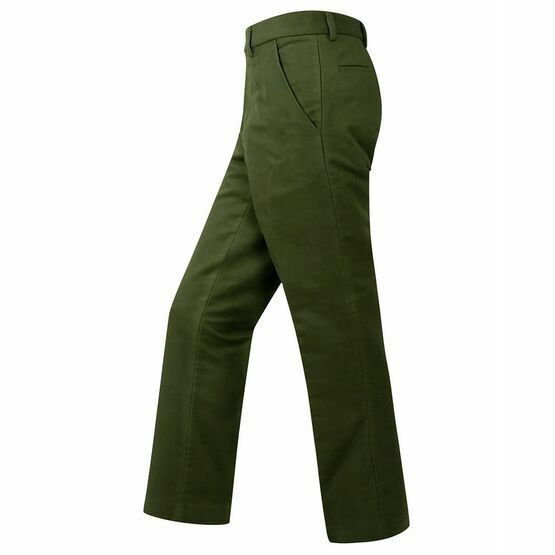 Hoggs of Fife Monarch Moleskin Trousers in Dark Olive