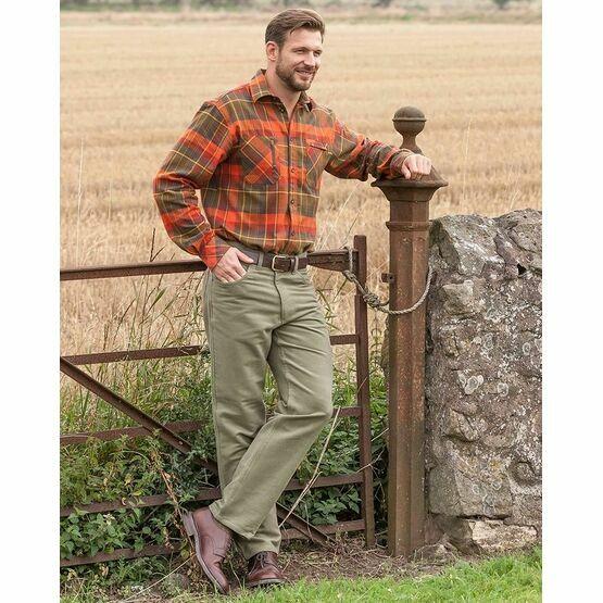Hoggs of Fife Men\'s Moleskin Jeans in Lovat